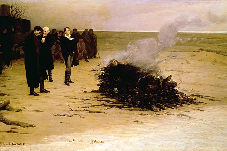 'The funeral of Shelley' by Louis Edouard Paul Fournier, 1889