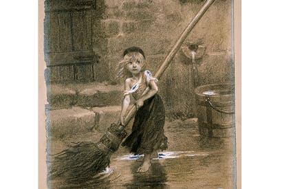 Cosette, by Emile-Antoine Bayard. Illustration for Les Misérables