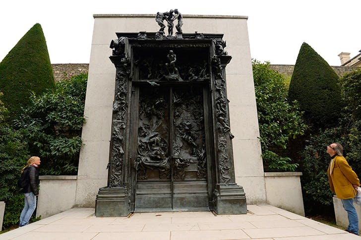 Rodin's 'Gates of Hell': more than 300 figures, including a panther-like Eve