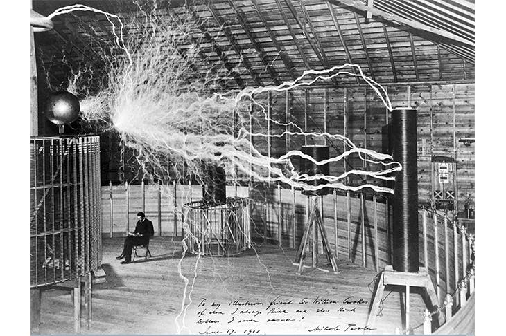 It's electrifying: Nikola Tesla in his lab, 1901
