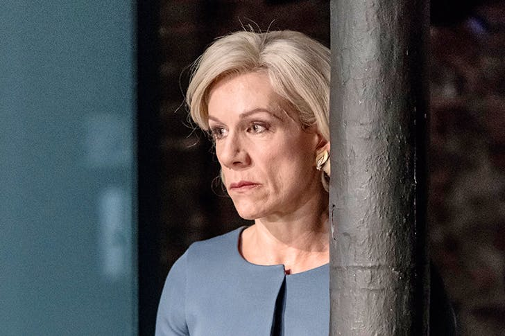 Nympho with a bus pass: Juliet Stevenson as Gertrude