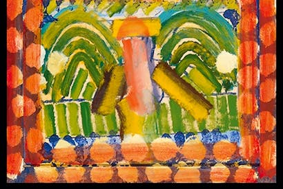 'DH in Hollywood', 1980–84, by Howard Hodgkin