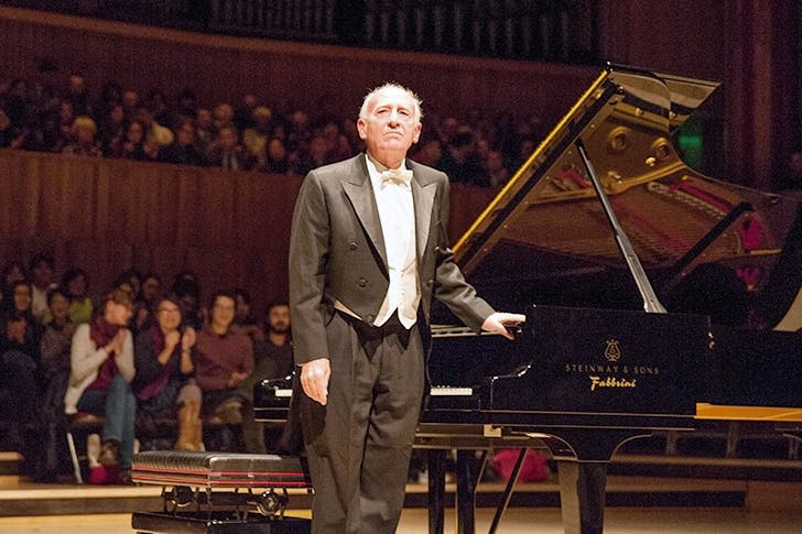 Time to retire: pianist Maurizio Pollini at the Royal Festival Hall in March 2016