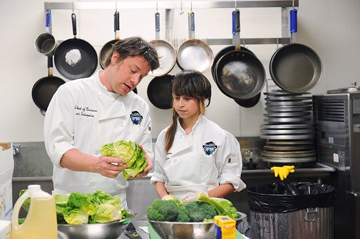 Raw nerve... TV chef Jamie ­Oliver has been a vocal critic of the school cookery curriculum