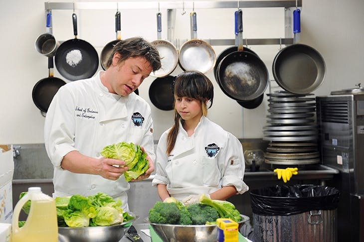 Raw nerve... TV chef Jamie Oliver has been a vocal critic of the school cookery curriculum