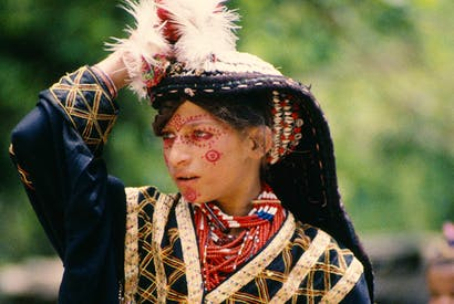 A Kalash girl in traditional dress