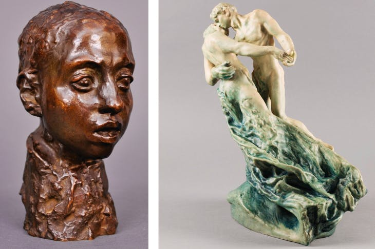 Left: 'Étude pour la tête d'Hamadryade', 1895-1908; right: 'La Valse', 1889-1895