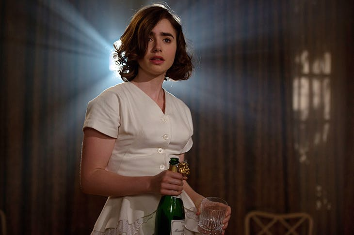 Lily Collins as Marla in 'Rules Don't Apply'