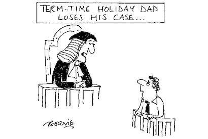 'I sentence you to two weeks at Center Parcs in the middle of August, and may God have mercy on your soul.'