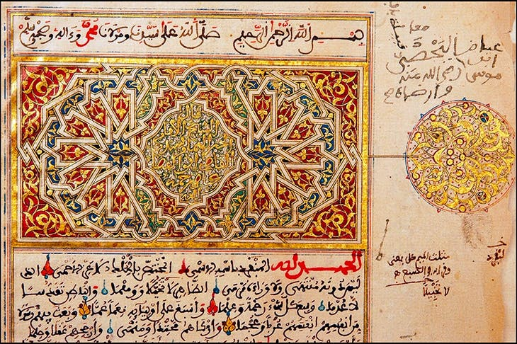 Part of a Quran originally bought in Fez in 1223, and removed from the Ahmed Baba Institute in Timbuktu for safety in 2012