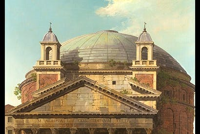 'The Pantheon', 1742, by Canaletto