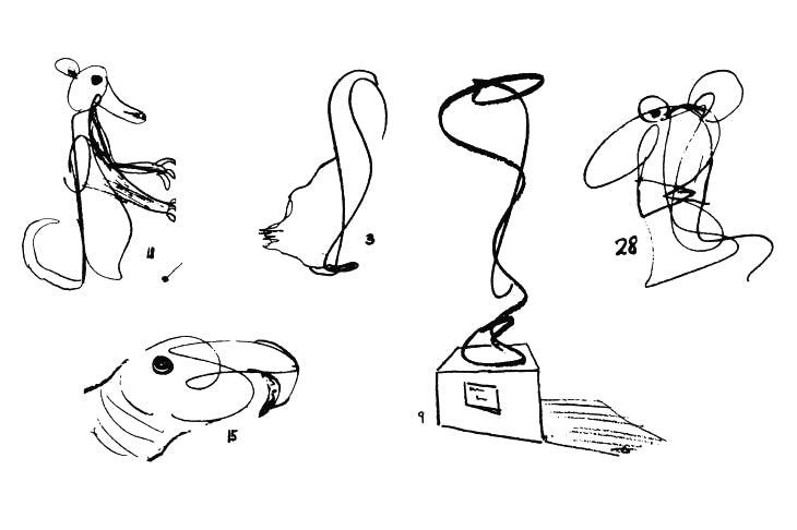 Doodles by Winnicott's child patients, including one (Fig. 9) by a boy who transformed the psychoanalyst's squiggle into a sculpture