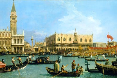 'Venice: The Bacino di S. Marco on Ascension Day', c.1733–34, by Canaletto