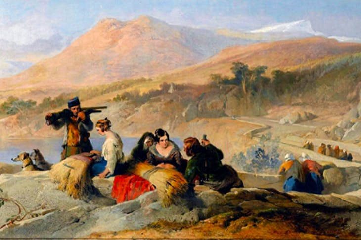 'Return of the Staghunt' by Edwin Landseer, 1837 (from Highland Retreats)