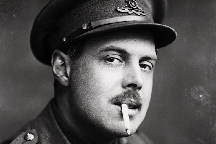 Who next for a blast? Wyndham Lewis in 1917, photographed by George Charles Beresford