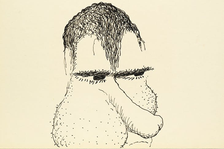 'Untitled (Poor Richard)', 1971, by Philip Guston