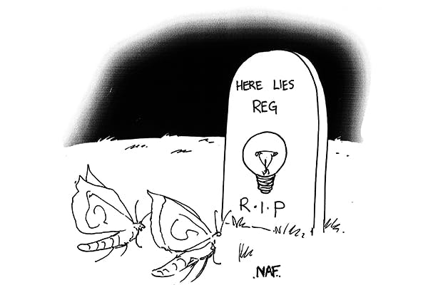 'The light bulb was a nice touch. He loved light bulbs.'