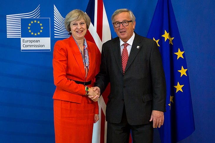 Theresa May and Jean-Claude Juncker (image: Getty)