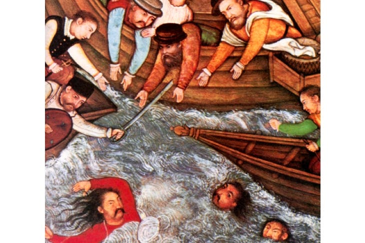 The Battle of Diu, India (1509), in which Lopes took part as a member of Francisco de Almeida's victorious fleet