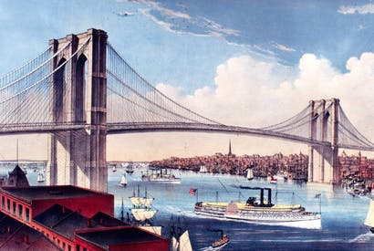 The Brooklyn Bridge: a masterpiece of engineering and a unifying symbol after a divisive civil war