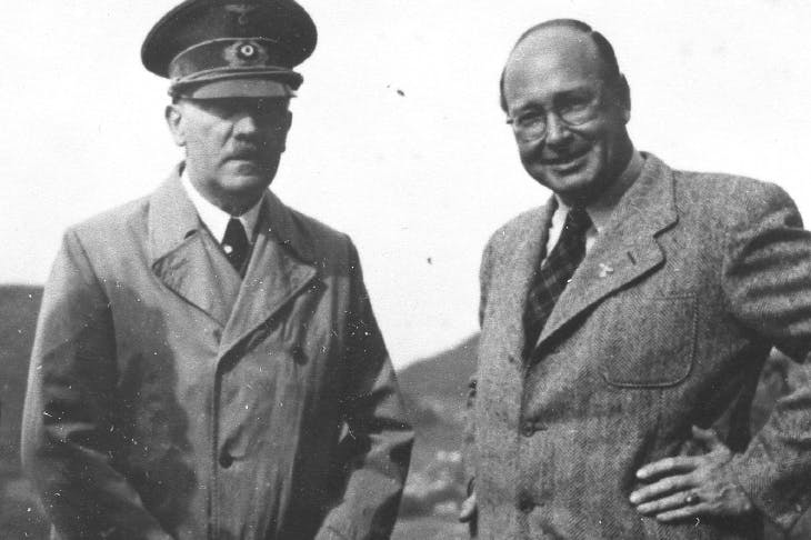 Obsessed with the occult: Hitler and Helmut Schreiber, head of the Magic Circle, at the Obersalzberg in 1943