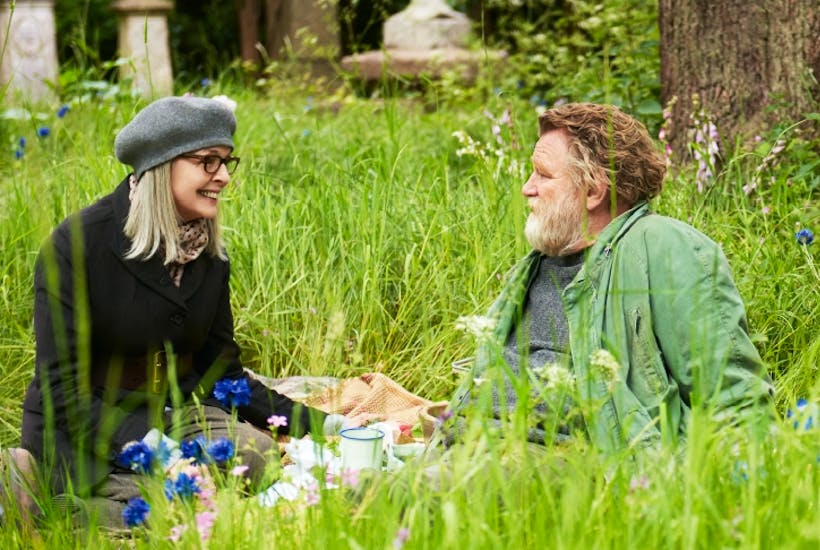 Diane Keaton as Emily and Brendon Gleeson as Donald in Hampstead