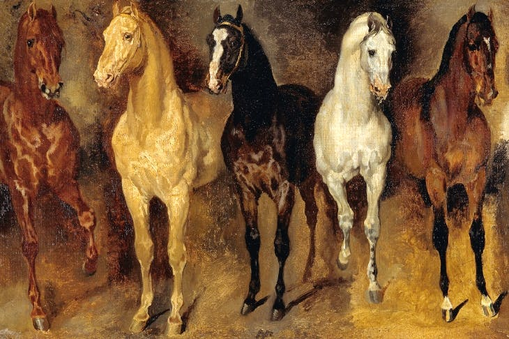 Study of horses by Théodore Géricault