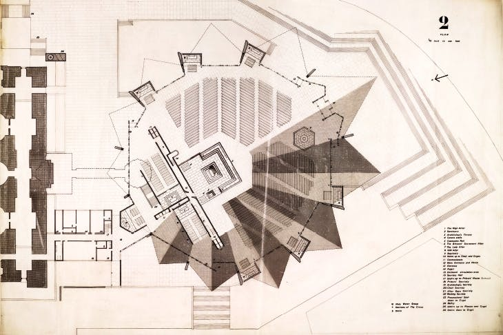 Star quality: competition design for the Roman Catholic cathedral, Liverpool, by Denys Lasdun, 1959