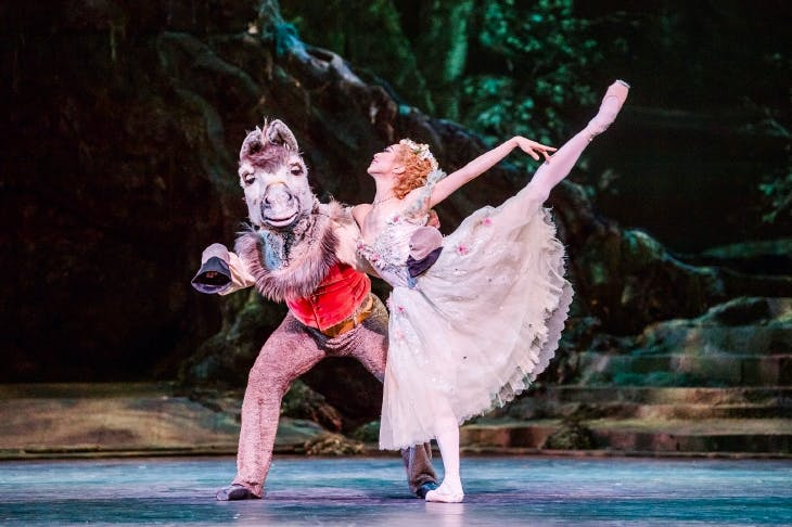 Bennet Gartside as Bottom and Akane Takada as Titania in Frederick Ashton's The Dream