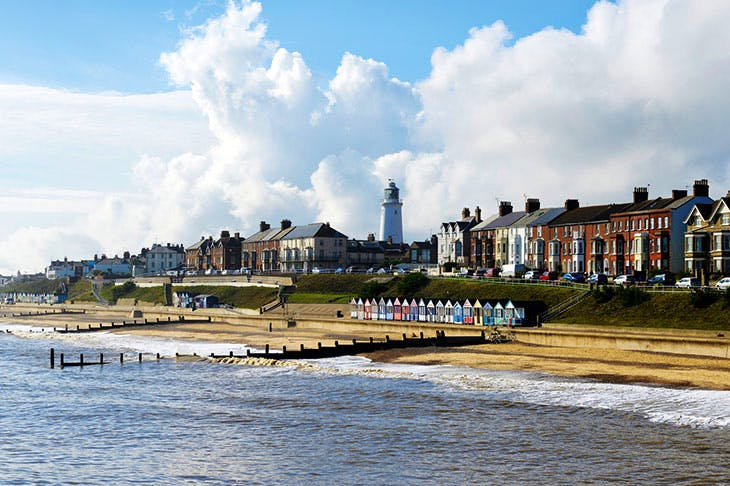 A lot of Outside: the seafront at Southwold
