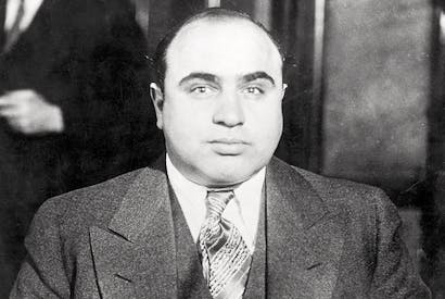 King of Chicago crime: Al Capone in the late 1920s
