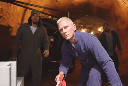 Going platinum: Daniel Craig as Joe Bang in Logan Lucky