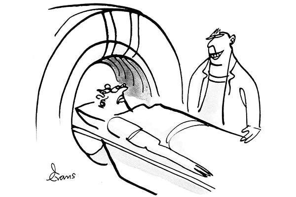 'If you're a private patient, you'll probably want to smile as you go through the scanner.'