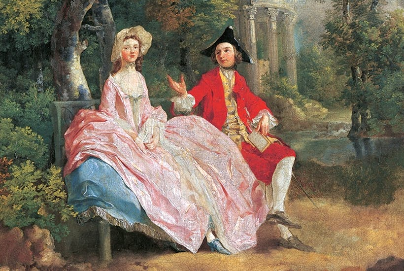 Self-portrait, with his wife Margaret