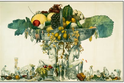 The cornucopia of food advertised by the Empire Marketing Board, 1927‑1933
