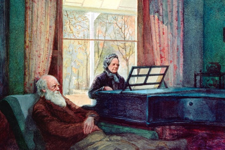 Darwin was a martyr to ill-health all his life, and was patiently nursed by his wife Emma, whom he called 'Mammy'
