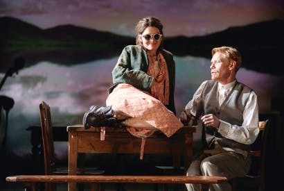 Shirley Henderson (Elizabeth Laine) and Michael Shaeffer (Reverend Marlowe) in Girl from the North Country