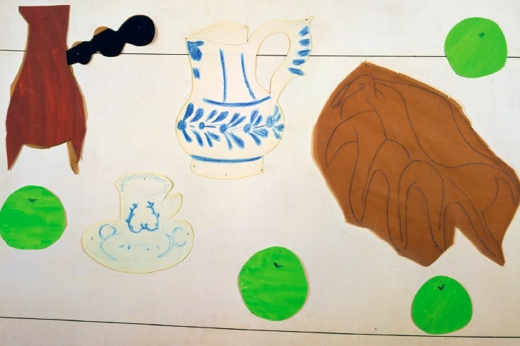 Matisse's 'Still Life with Shell' (1940) with his beloved chocolate pot, top left
