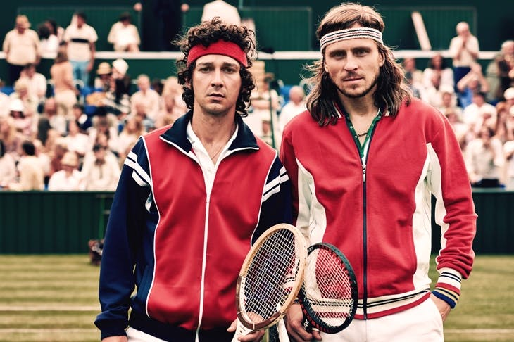 The rivals: Shia LaBeouf as John McEnroe and Sverrir Gudnason as Bjorn Borg in Borg vs McEnroe