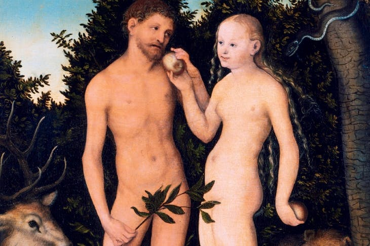 Adam And Eve In Paradise By Lucas Cranach The Elder 1531