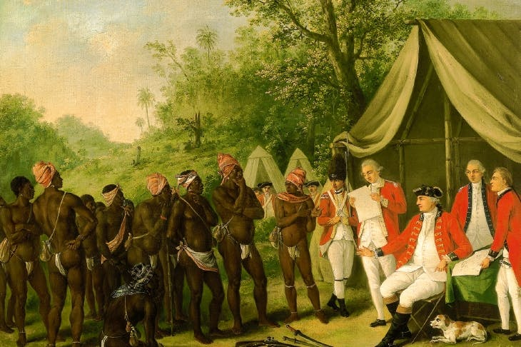'The Pacification of the Maroons in Jamaica', by Agostino Brunias (18th century)