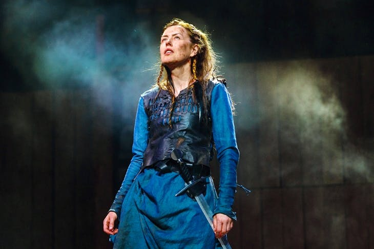 Killer queen: Gina McKee as Boudica. (Photo: Steve Tanner)
