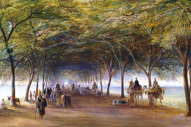 'The Road to the Pyramids at Giza', c.1873