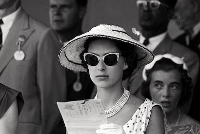 Princess Margaret at the races in Kingston, Jamaica in 1955