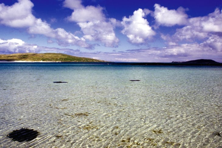 The uninhabited island of Fuday in the Sound of Barra, Outer Hebrides