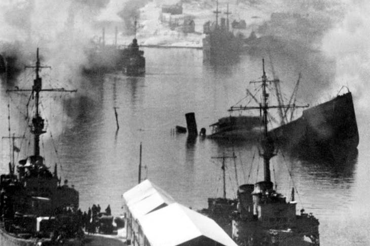 Narvik harbour, March 1940