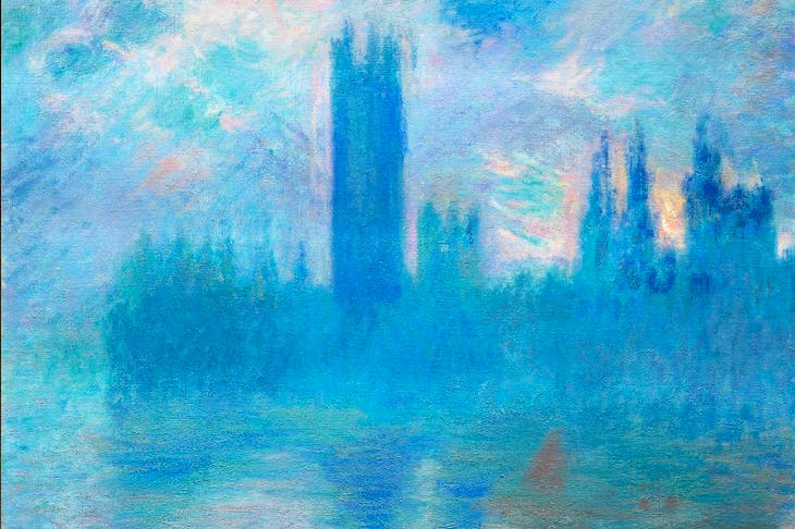 'Houses of Parliament, Sunlight Effect', 1903, by Claude Monet