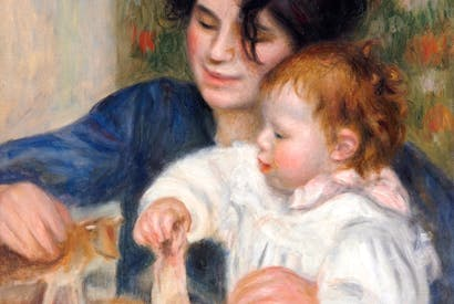 Portrait of Gabrielle Renard and Jean Renoir. Gabrielle was an important part of the Renoir household, both as nanny and artist's model