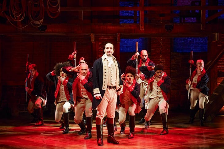 Making musical history: Lin-Manuel Miranda and the cast of Hamilton