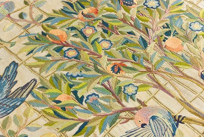 Stitches in time: detail of 'Embroidery Design' by May Morris, worked by May Morris and Theodosia Middlemore, c.1900